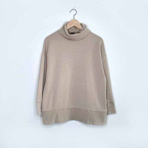 Zara tan sweatshirt turtleneck - size Small